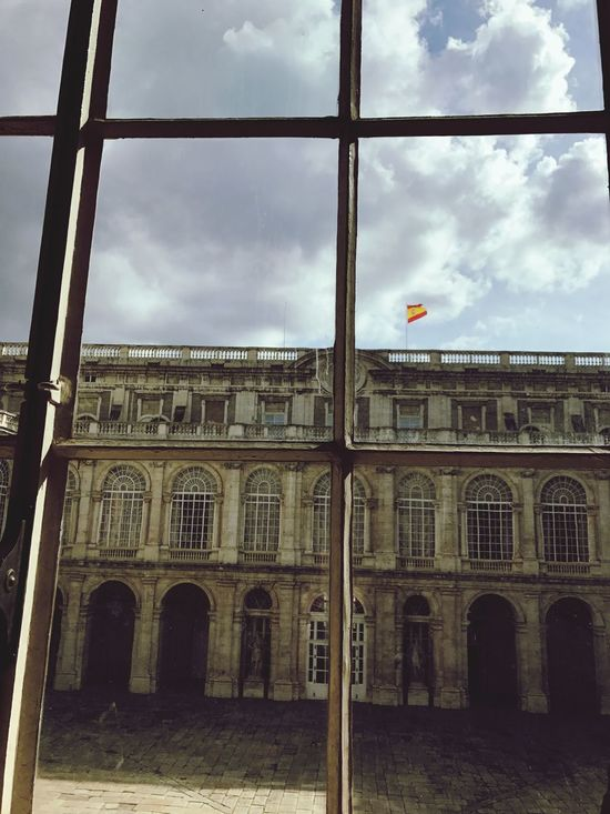 EyeEmNewHere Throuhg The Window Architecture Building Exterior Built Structure Window Travel Destinations Palace Palacio Real De Madrid Love Spain❤️