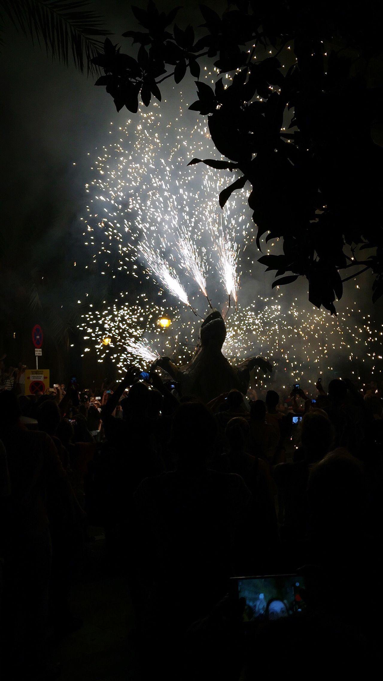 Festival La Mercè in Barcelona with the Correfoc (dancing devils) Correfoc Barcelona Barcelona La Merce La Merce Festival La Merce La Merce Tourist In Barcelona Firework