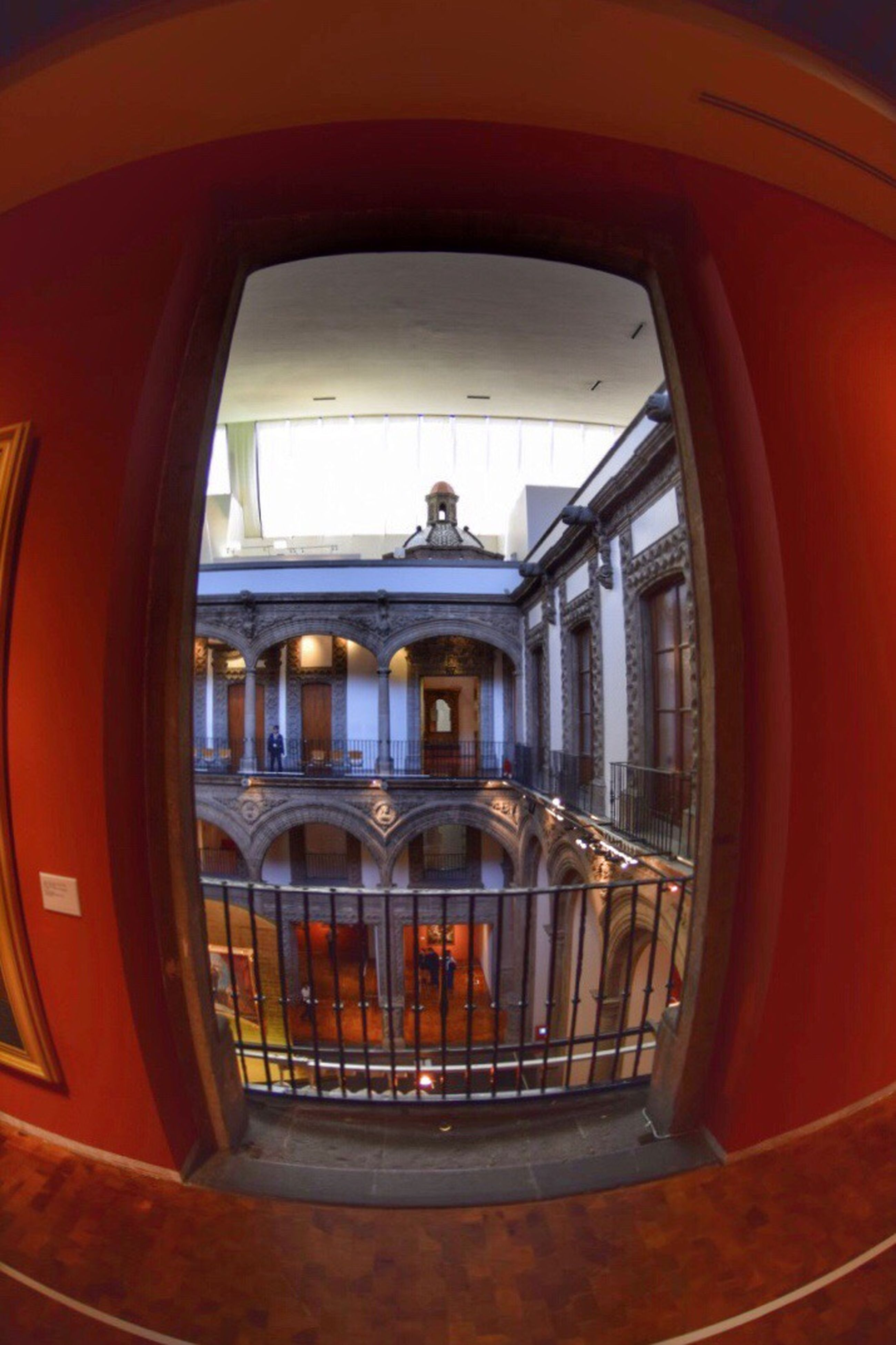 architecture, built structure, window, indoors, no people, steps and staircases, day, fish-eye lens, close-up