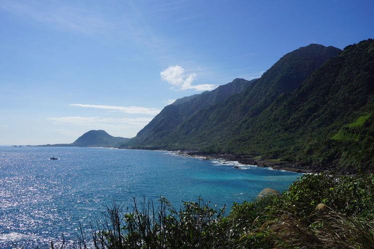 Beach Blue Cliffs East Coast Hualien Hualien, Taiwan Nature No People Non-urban Scene Philippine Sea Roadtrip Scenics Sea Sky Taiwan Water