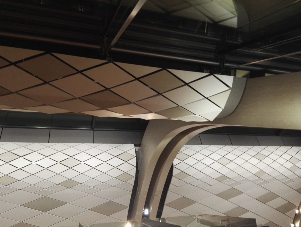 Architecture Architecture Art Brown Day Gardermoen Geometry Grey Indoors  Low Angle View No People Oslo Pattern
