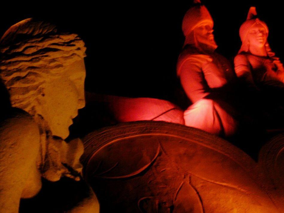Sculptures made of sand. Creative Light And Shadow All The Neon Lights EyeEm Best Shots Eye4photography  Taking Photos Kumdan Masallar Sandy Tales Istanbul Turkey Darkness And Light Art EyeEmBestPics My Best Photo 2015