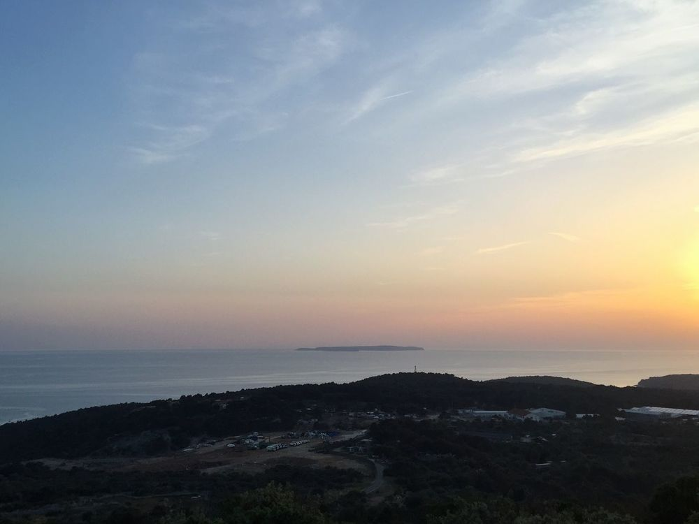 Island of Susak, Croatia, 2015. Croatia Susak Island Sunset Sunset Landscape Sunshine Coastline Coast Sea Water Adriatic Sea Adriatic Mediterranean  Far Far Away Calming Views Colorful Distant View Enjoying The Sun Sky And Sea Found On The Roll