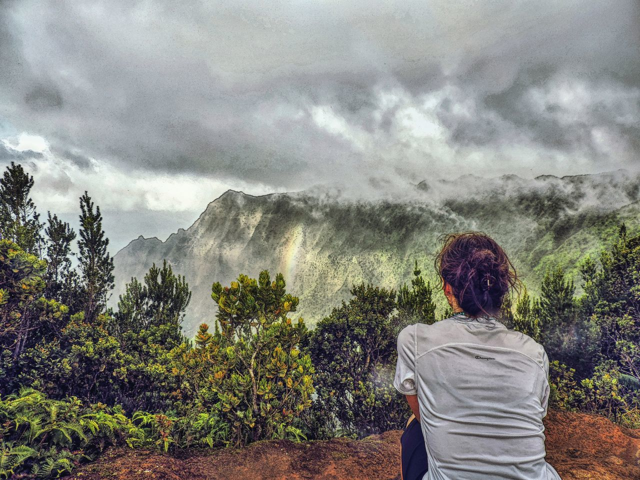 Lookout Mountain Kalalau Lookout Kauai♡ Kauai Hanging Out Taking Photos Hello World Relaxing Enjoying Life Cliffside Cliffs Valley View Lookout Hawaii View From Above Fog Nature Photography Mountains