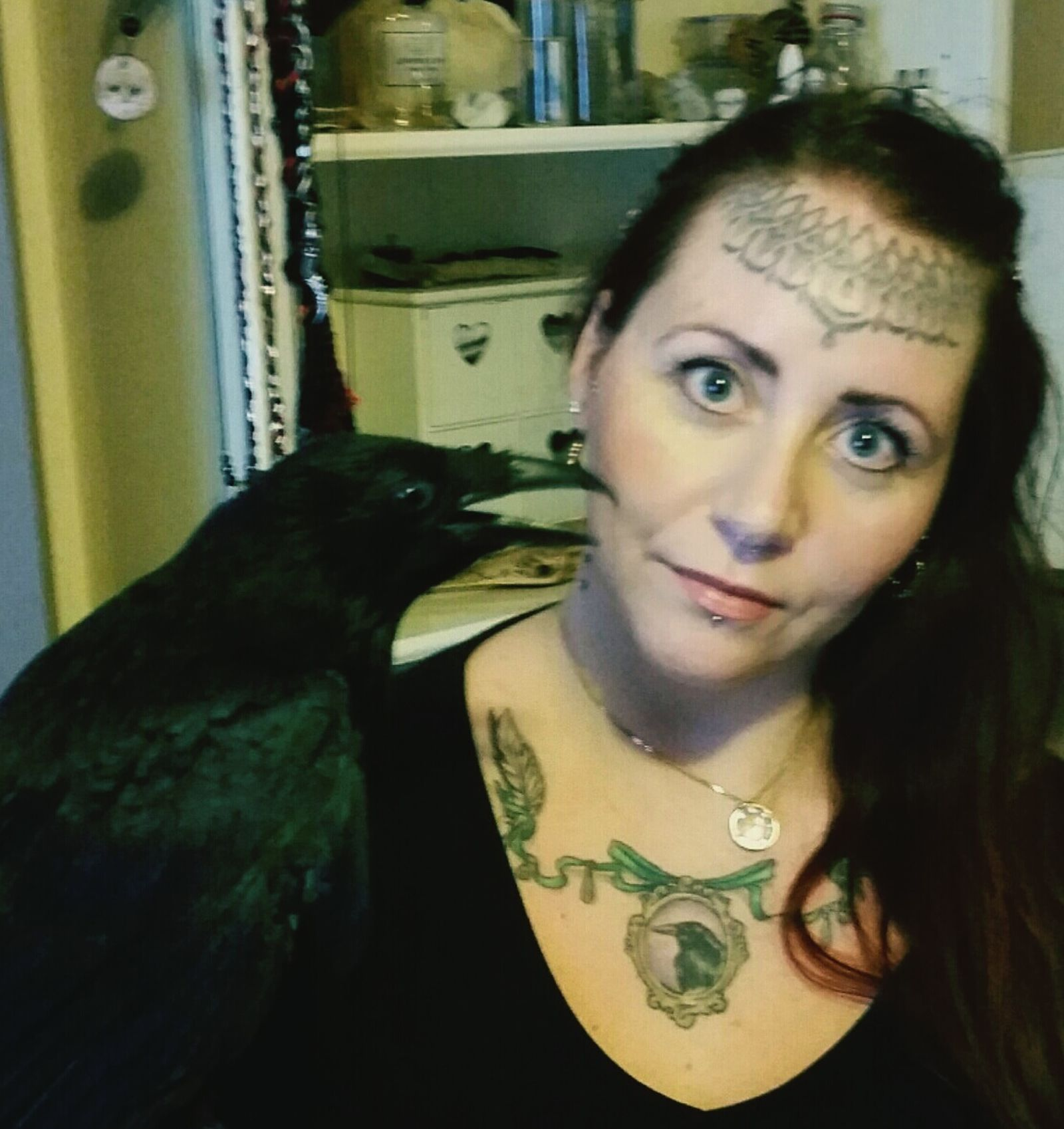 Me and Archie. :) Disabledcrow Disabled Crow Rescuecrow Love Nature Pet Petcrow Corvid Selfie