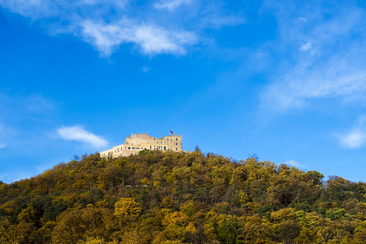 Architecture Beauty In Nature Blue Building Exterior Built Structure Castle Cloud - Sky Cultures Day Fort Germany Hambacher Schloss History Low Angle View Medieval Nature Neustadt An Der Weinstraße No People Outdoors Sky Travel Destinations Tree Vormärz War Weinstraße