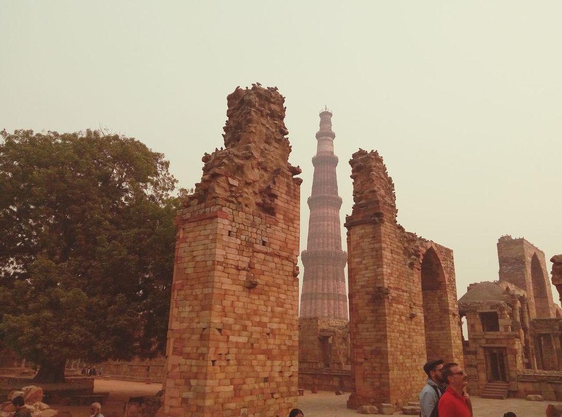 Landscape India Delhi Historic Qutab Minar