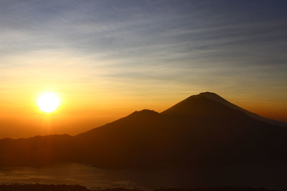 Bali, Indonesia Bali Batur Batur Mountain View восход