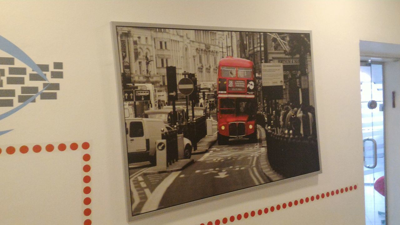 I love this Wall Portrait England Colorful Bus Double Decker Bus London Lifestyle
