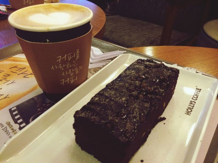 Ristretto latte & real belgian brownie