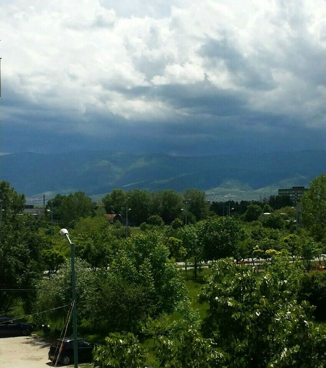 Blue Wave Clouds And Sky Outdoors From My Point Of View Green Color Mountain View Tranquility Beauty In Nature