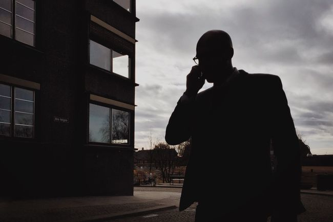 Just called to say • Oslostreets Streetbwcolor Mobilephotography Mobiography Streetphotography Street Photography Faceless