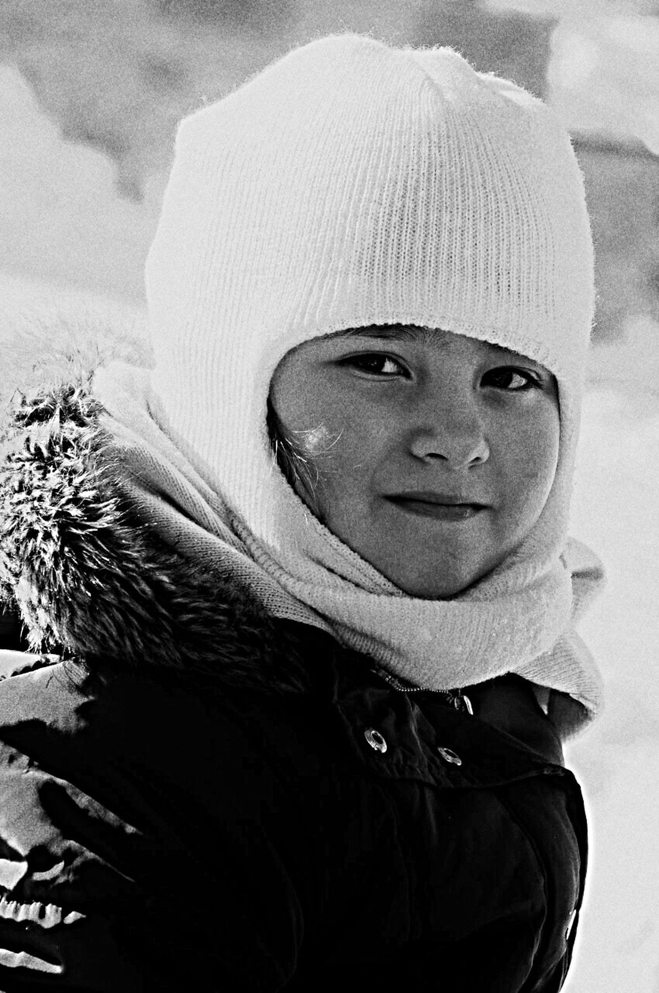 Littlesister Sister ❤ Kids Bursa / Turkey Love ♥ Snow Blackandwhite Black And White First Eyeem Photo