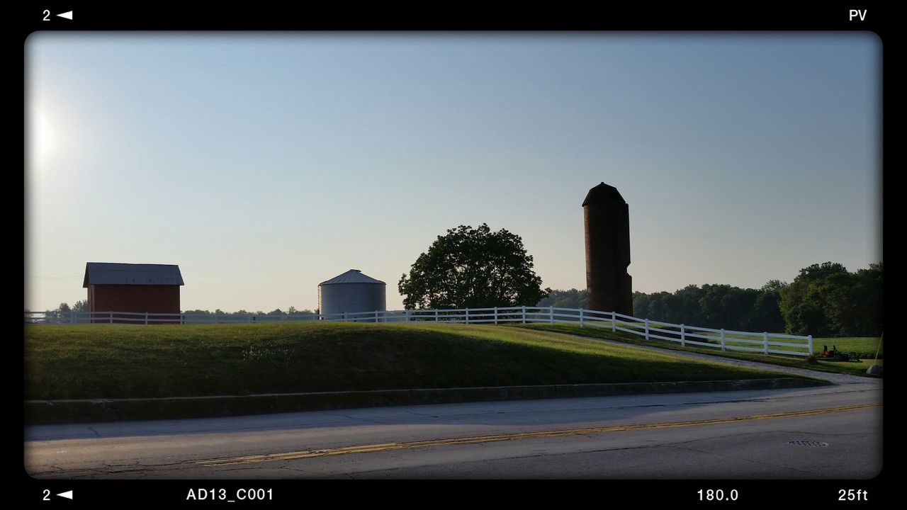 Rural Indiana America. Taking Photos Check This Out Hello World Relaxing Enjoying Life Design Hanging Variation No People Simplicity Built Structure Clear Sky Nature Outdoors Residential Structure , Silo Fence Architecture