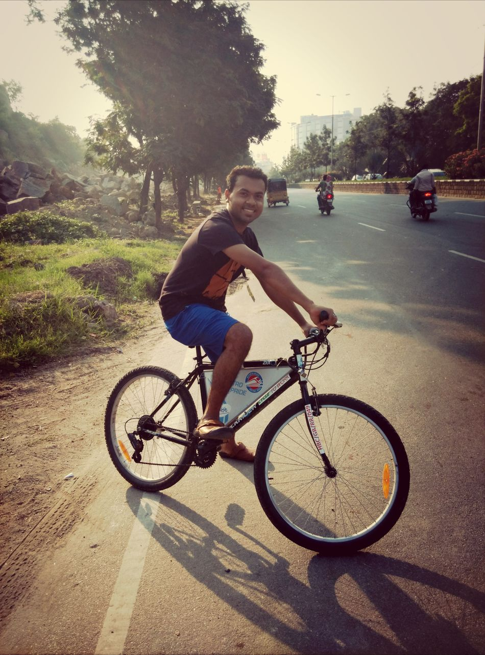 Awesome start of the day in hyderabad. :D Cycling Around Fun With Friends