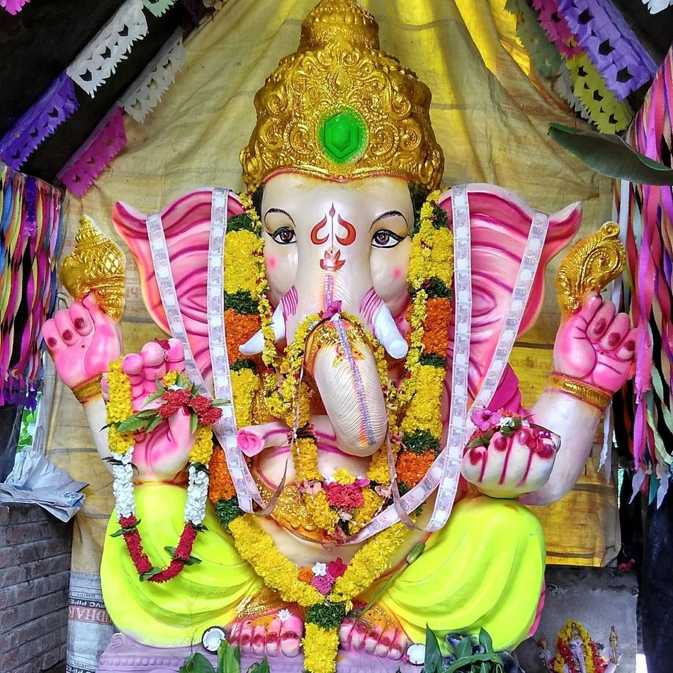 Lord Ganesha Festival Taking Photos India Andhrapradesh God Son Of Lord Siva Great Indian Festival SagarReddy Color Of Life
