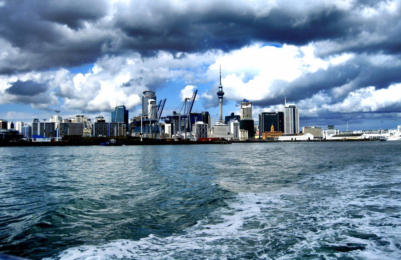 Auckland Waterfront Auckland Harbour Auckland Skyline Auckland Waterfront City Cityscape Cloud - Sky Cloudy Sky Skyscraper Urban Skyline Water Waterfront