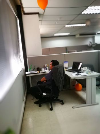 Thinking? Or sleeping? Office One Person Adult Businessman Tired Exhausted P9 Huawei P9photography Cebu City, Philippines