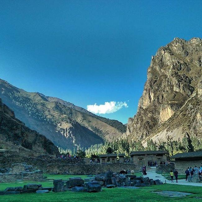 Inkas town. Vallesagrado Peru Peruvian Sudamerica llamas cultura arquitectura arqueología