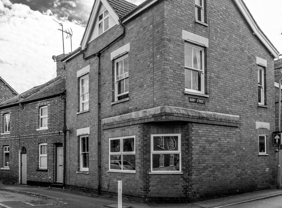 Former shop, Silver Street, Newport Pagnell, Buckinghamshire Black And White Monochrome Buckinghamshire Newport Pagnell Architecture Shops
