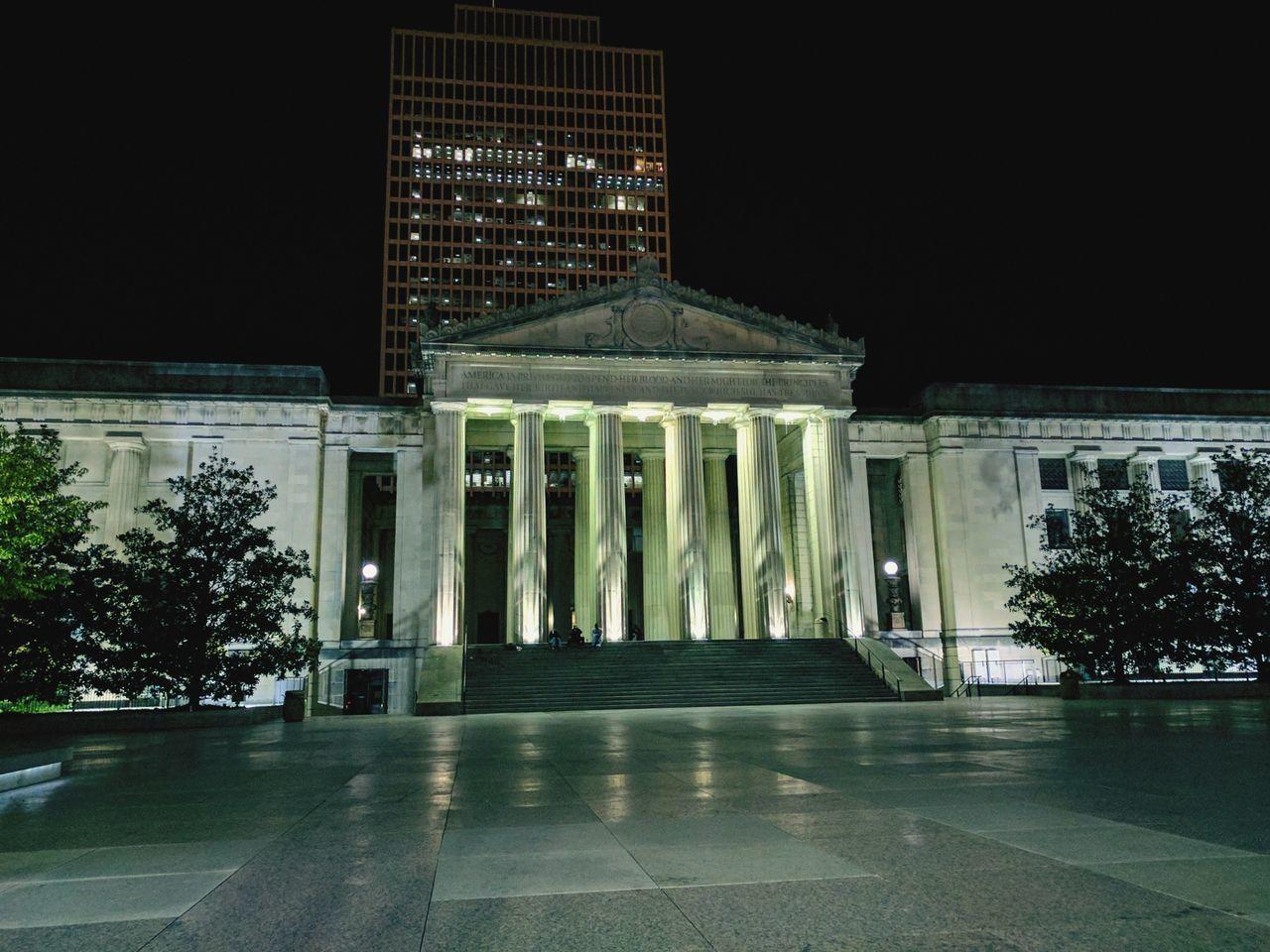 Architecture History City Night Outdoors War Memorial Nashville Nashville Life