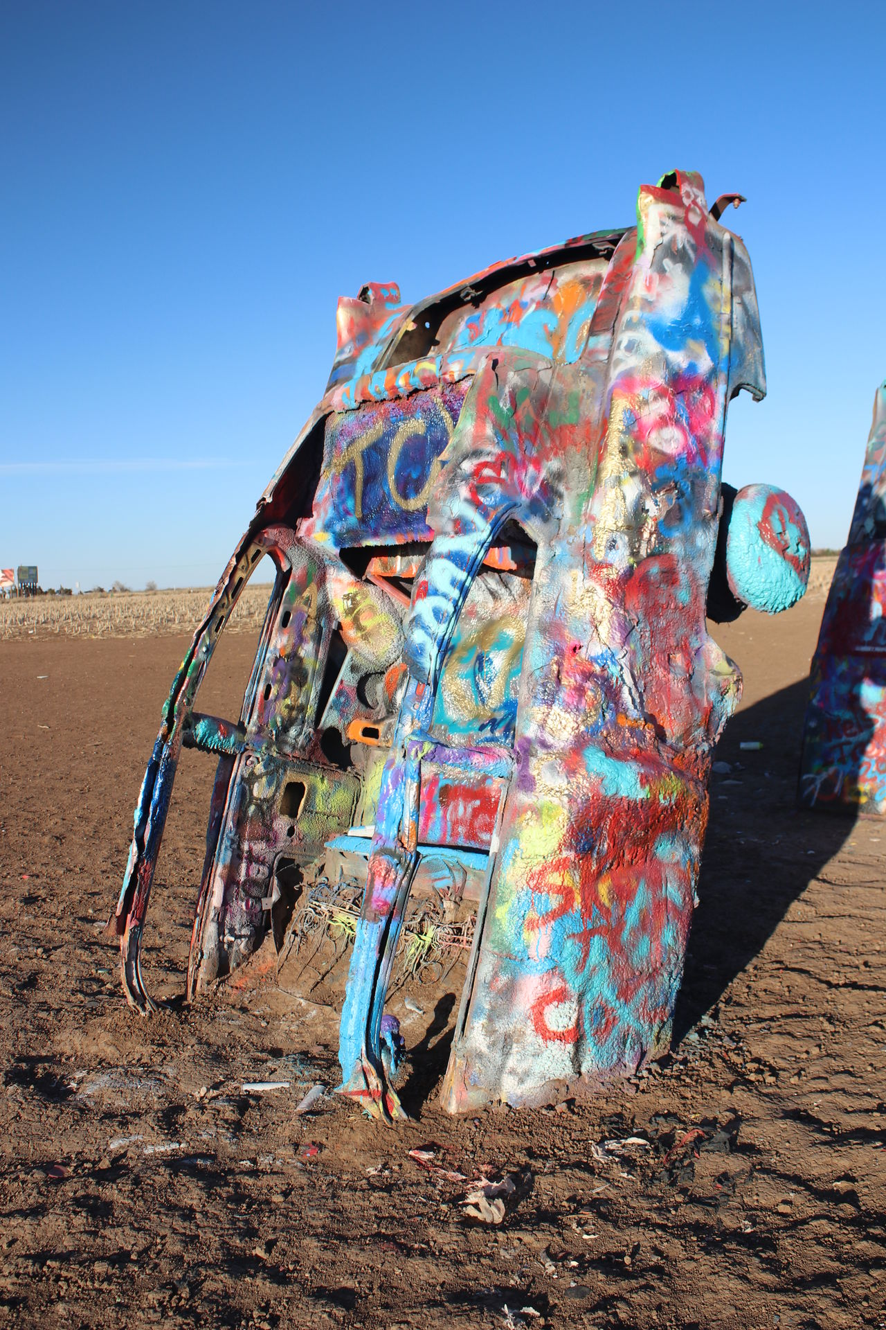 Cadillac Ranch...Amarillo, TX Art Artistic Car Day Multi Colored Outdoors Sky Spray Paint