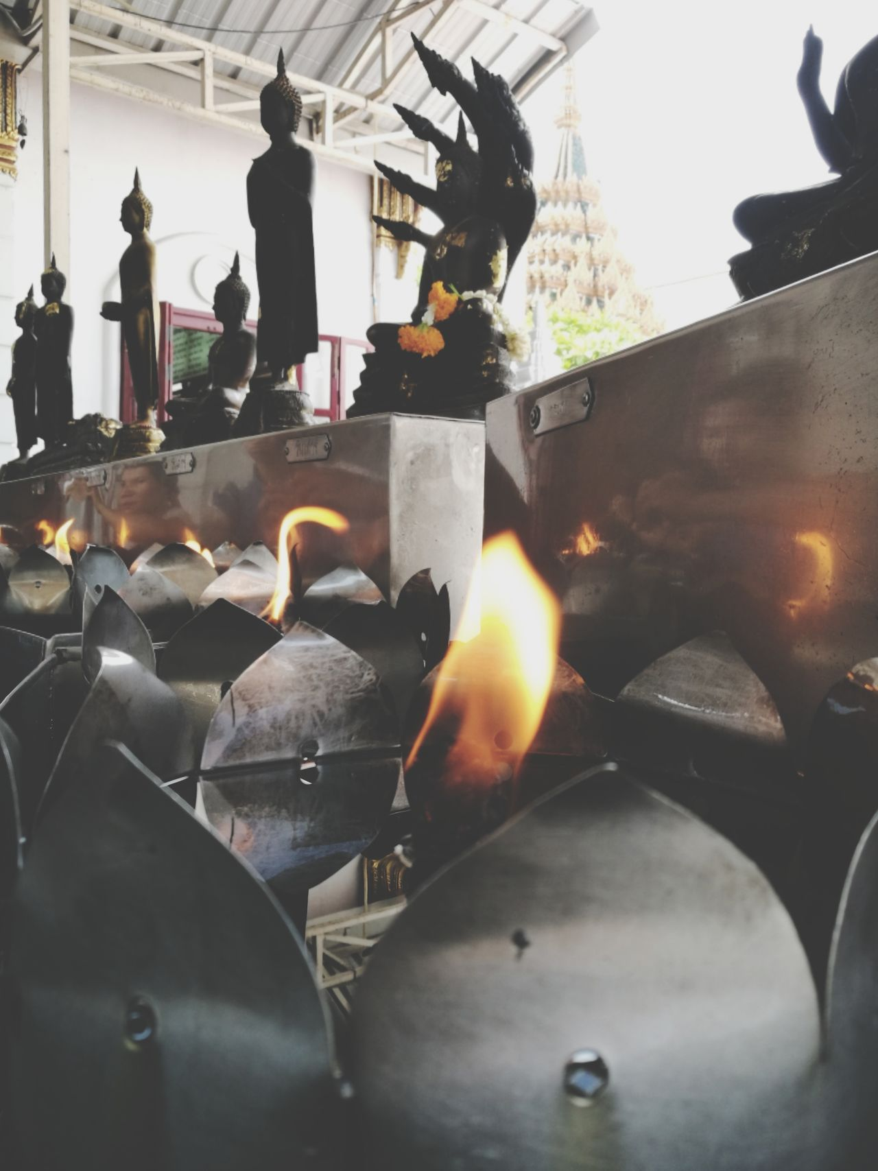 Heat - Temperature Buddhareligion Indoors  No People Foundry Factory Metal Industry Manufacturing Equipment Day Close-up Freshness
