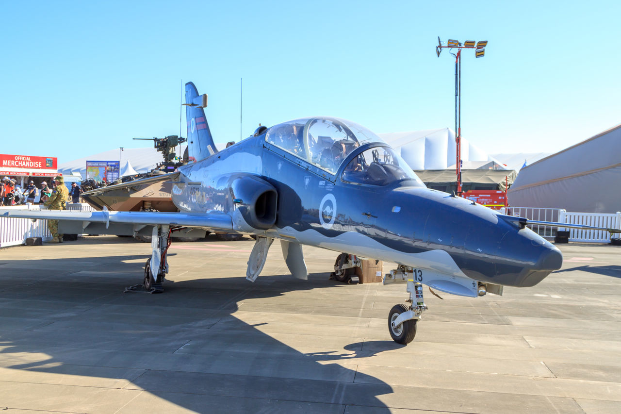 Training fighter aircraft from the Australian Air Force Aerobatics Aerospace Industry Air Force Air Vehicle Airplane Airport Airport Runway Airshow Clear Sky Day Eye4photography  EyeEm Best Shots Fighter Jet Fighter Plane Flying Military Military Airplane Motion No People Outdoors Plane Sky Transportation