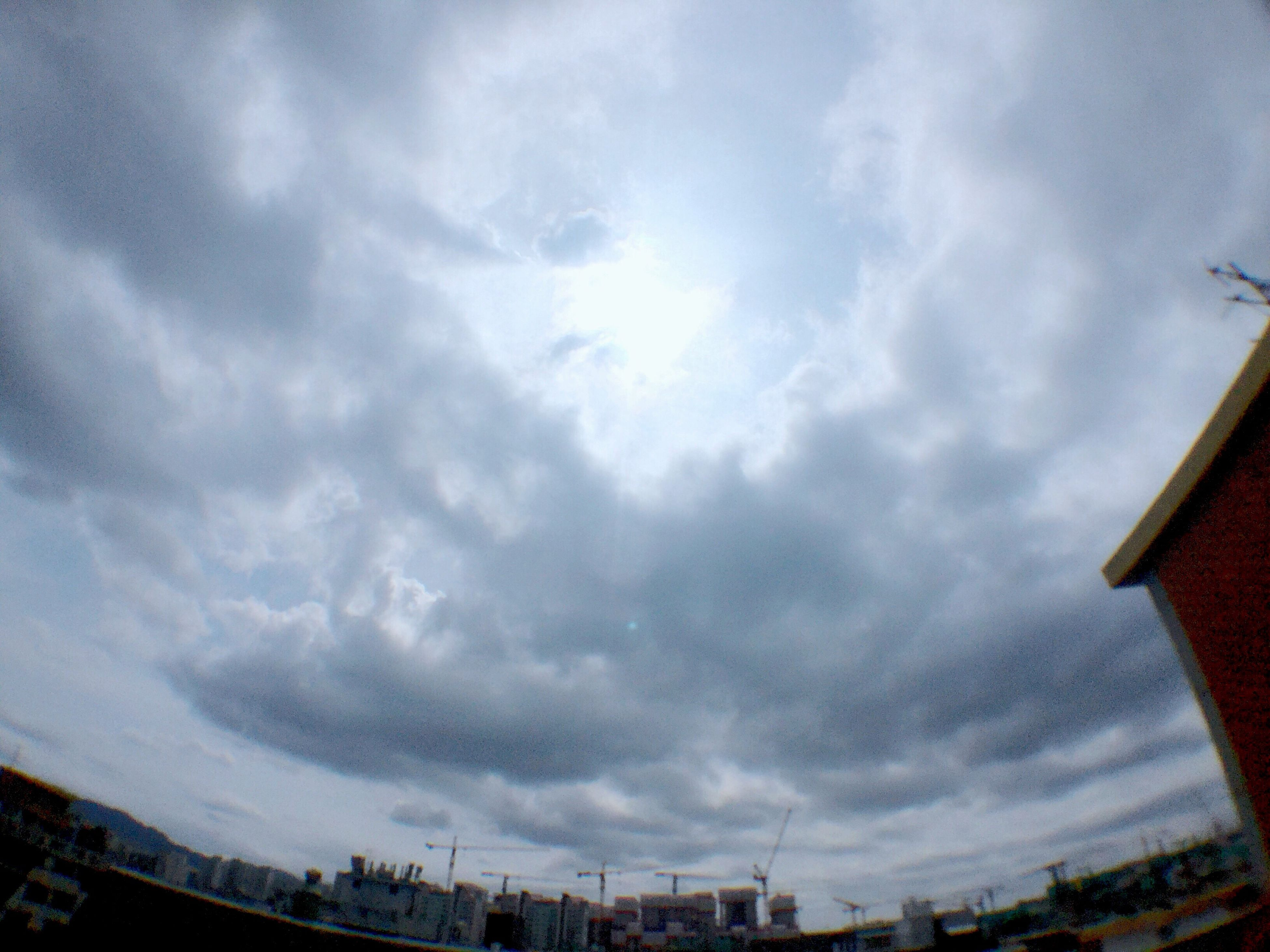 sky, cloud - sky, no people, low angle view, architecture, nature, outdoors, day, beauty in nature