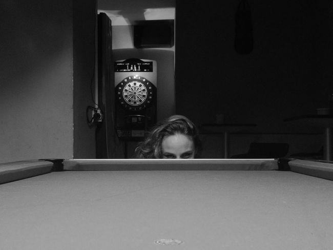Playing Interior Person Billard Table Black & White Myphoto Blackandwhite B&w MyPhotography Friend Moments