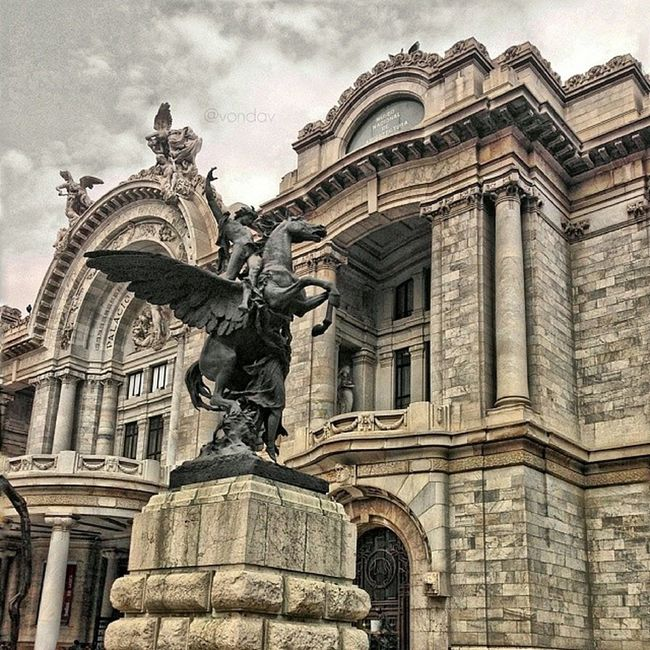 Bellas Artes, Mexico City Instapic Photo Instaphoto PataDePerro streetstyle Tourism instadaily am beautiful colors colorful awesome places Day clouds nubes cielo sky new_pov new_horizons technique light HDR monuments v ig_mexico