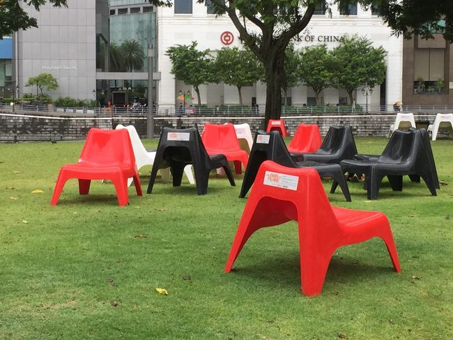 Chair City Life Day Empty Event EyeEm Gallery Eyeem Singapore Full Length Lawn Outdoors Tree Vibrant Color
