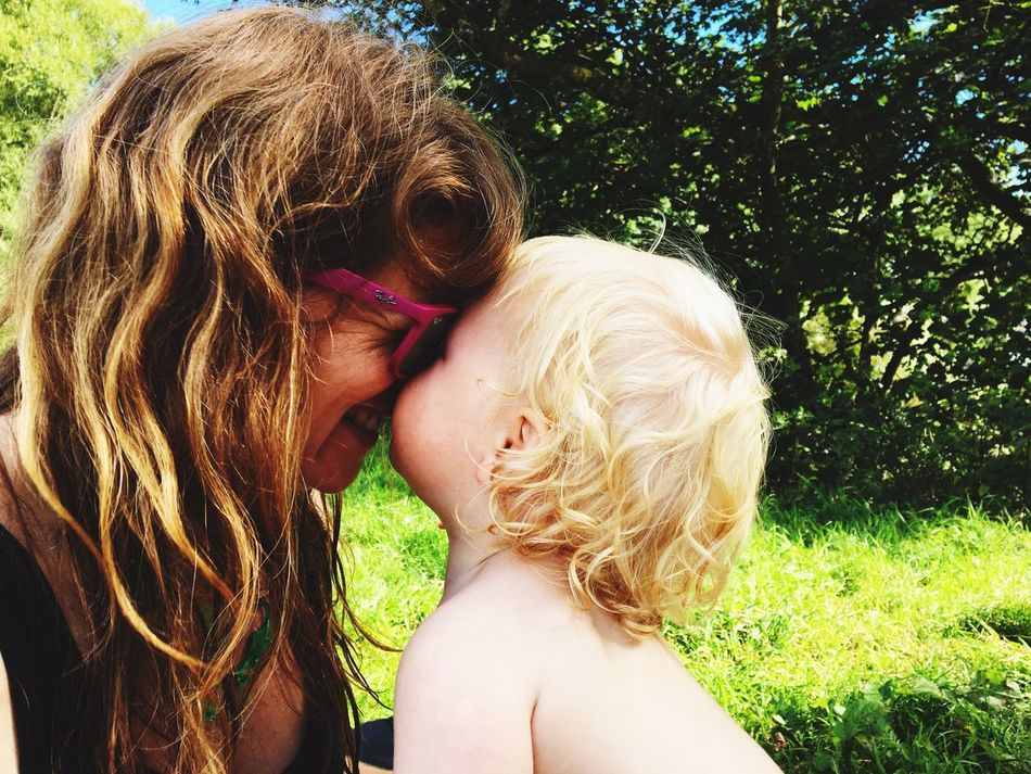 Unconditional Love Two People Togetherness Motherandson  Summertime Outdoors