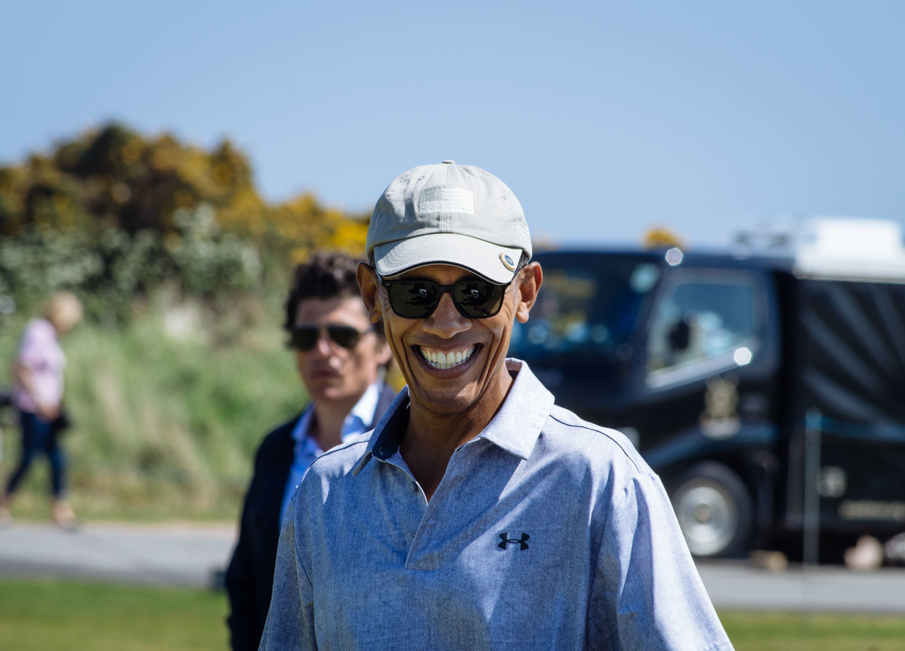 Barack Obama on the 9th hole of the Old Course in St Andrews, Scotland Golf Golfer Obama Old Course Portrait President Scotland St Andrews First Eyeem Photo