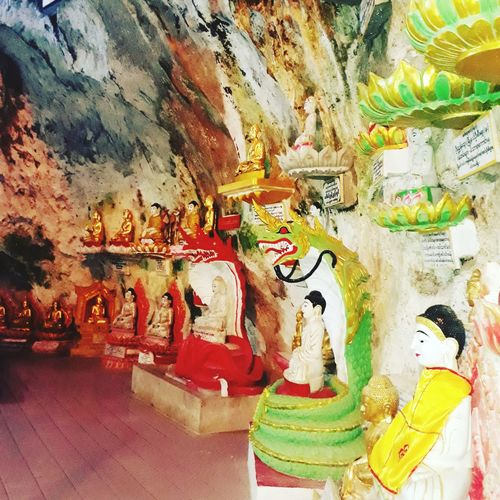 Pindayacave Myanmar Pagoda Beauty In Nature Religion Artistic Portrait