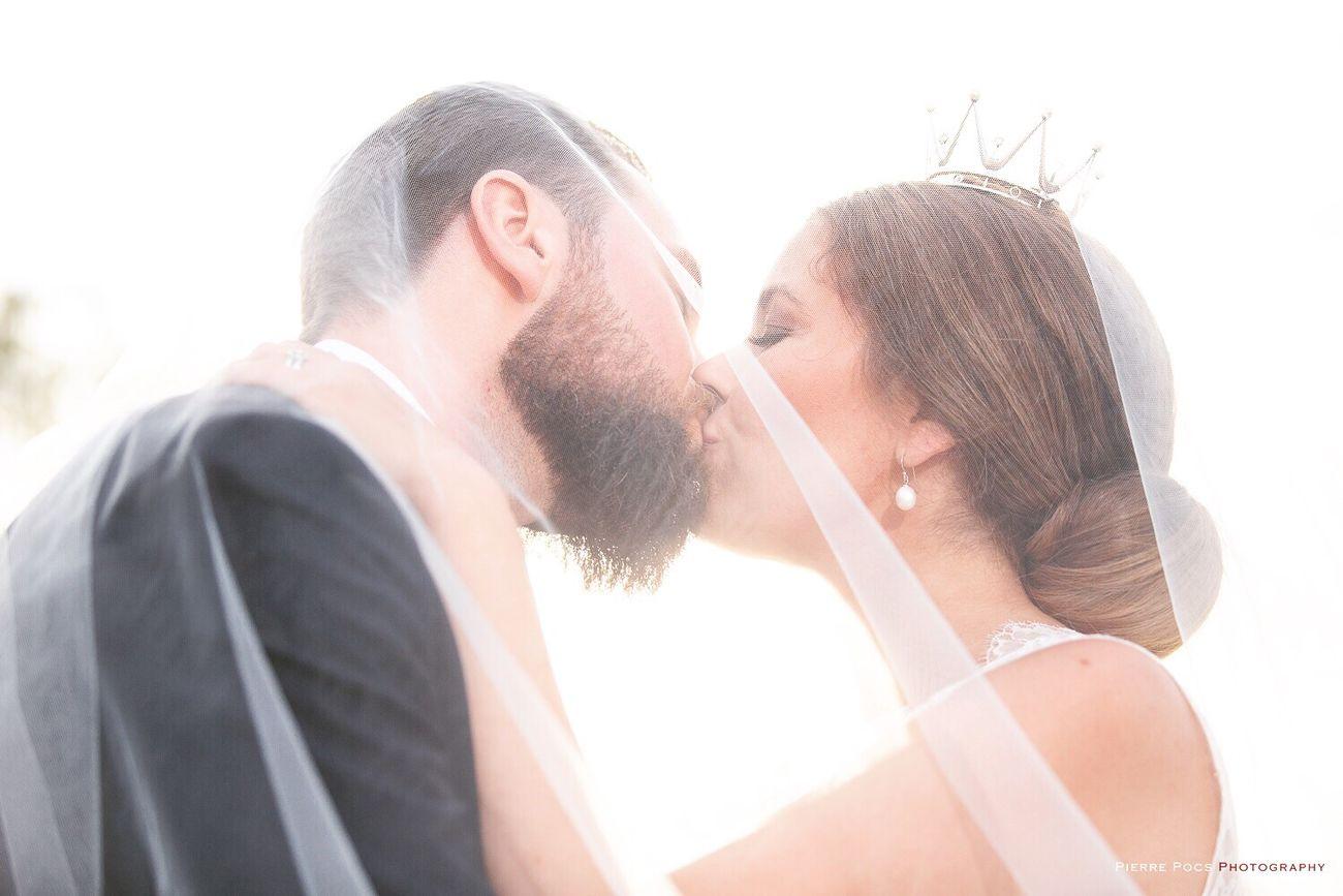 The kiss Wedding Photography Kiss