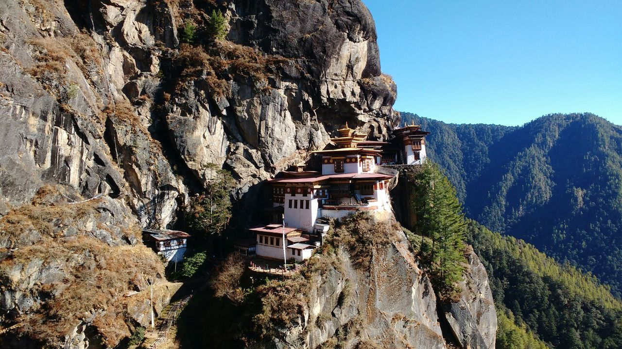 Tiger's Nest Nature Built Structure Bhutan
