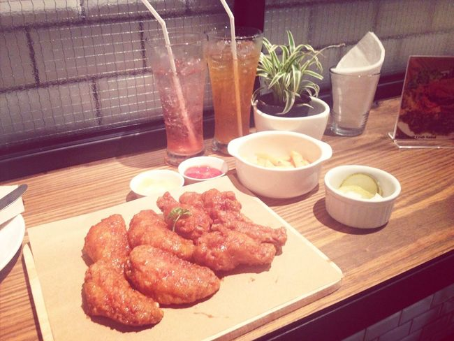 The best fried chickenes and very cheap for 2 person. THB 429.- First Eyeem Photo