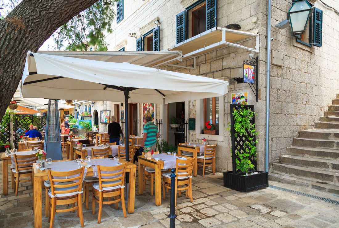 Dalmatian cuisine restaurant in Cavtat, Croatia Cafe Cavtat  Croatia Dalmatian Dalmatian Cuisine Destination Food Holiday Hot Local Food Nature Restaurant Summer Summertime Tourism Travel Travel Destinations Vacation Warm Yacht Destination
