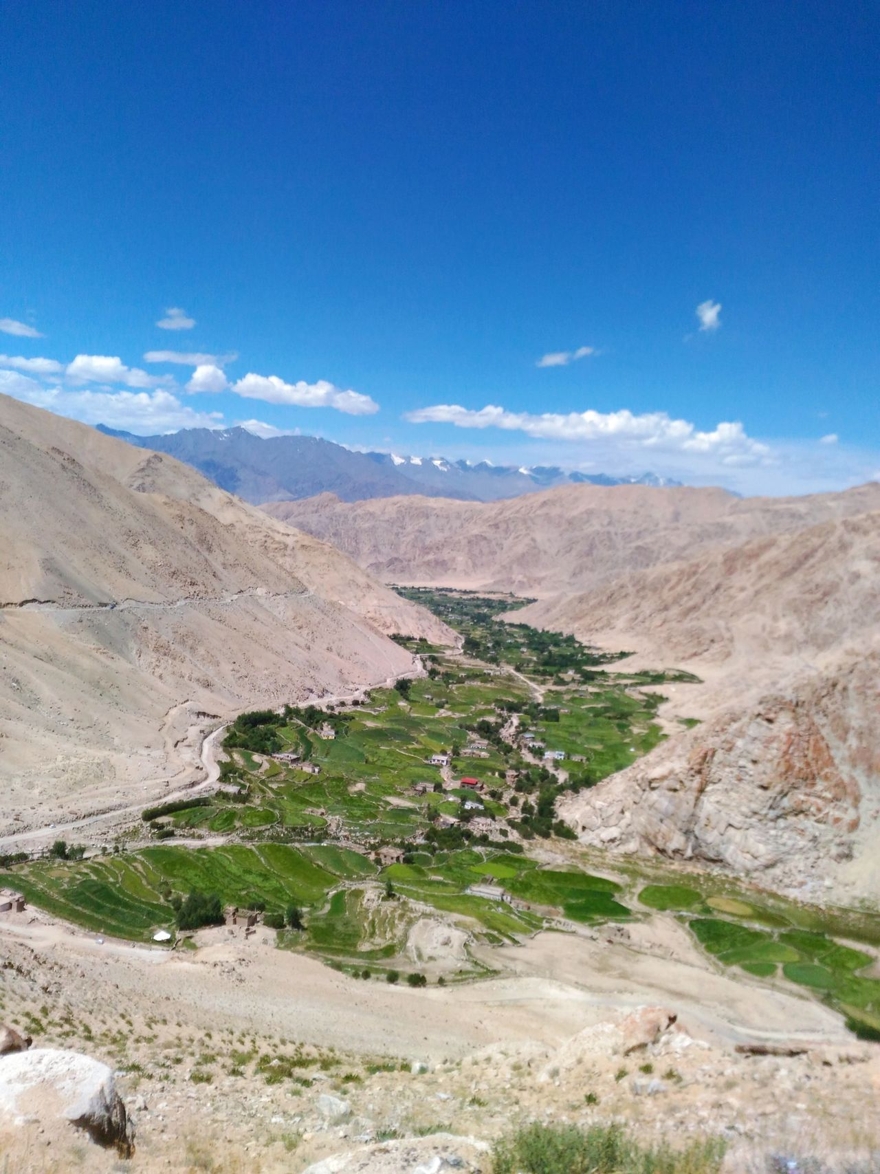 A Bird's Eye View Tranquil Scene Landscape Tranquility Scenics Non-urban Scene Sky Travel Destinations Road Physical Geography Solitude Remote Mountain Sand Travel Tourism Blue Arid Climate Nature Vacations Beauty In Nature Leh Ladakh EyeEm Gallery EyeEm Nature Lover Nature
