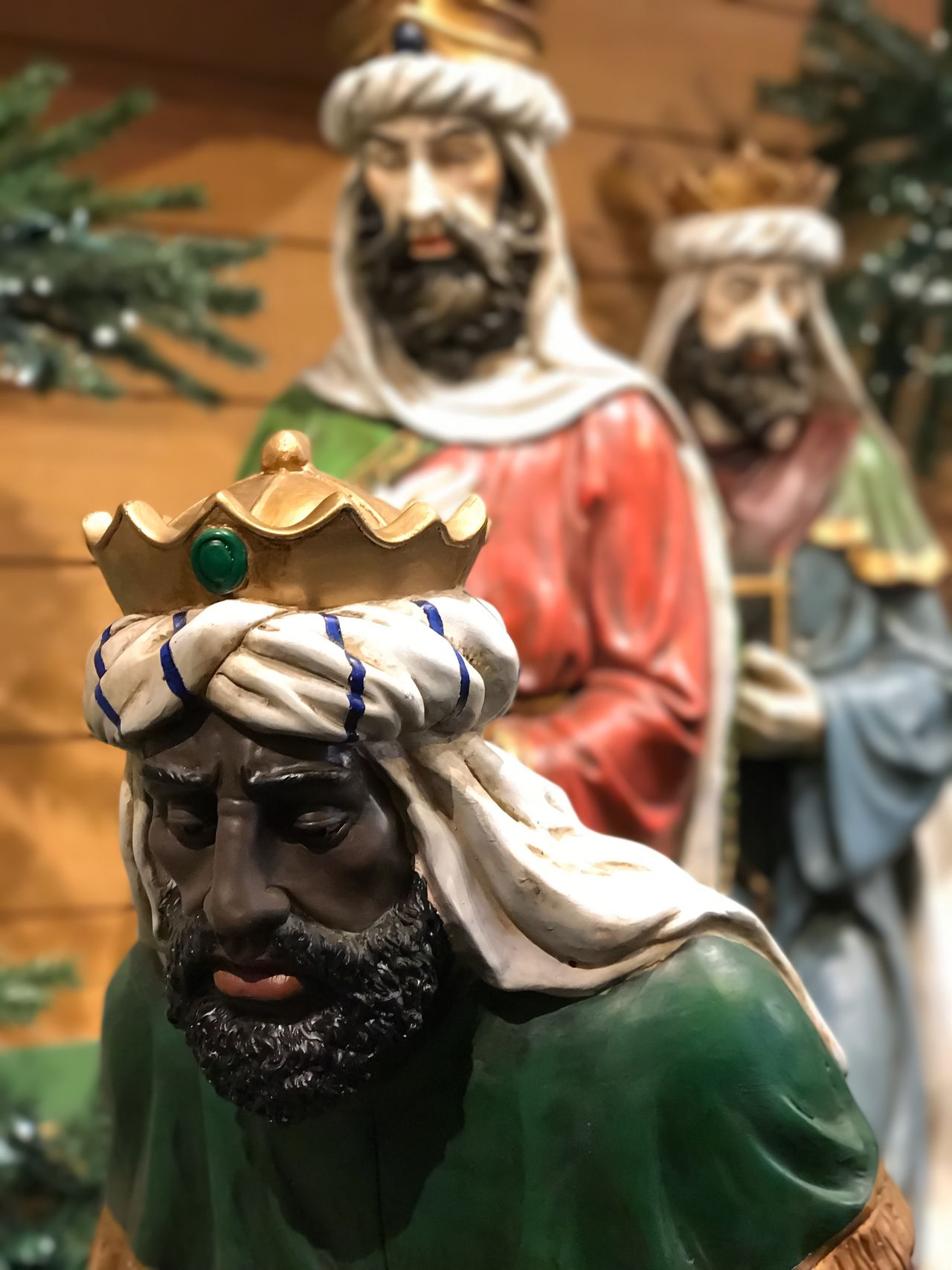 Focus On Foreground Human Representation Statue No People Close-up Sculpture Outdoors Day Christmas Decoration Christmas Store Retail  Nativity Scene Nativity Black Diversity
