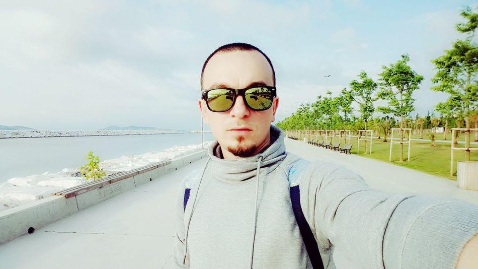 Hello World That's Me Hi! Green Blue Sky Time Skate Bostancı Sahili Colors