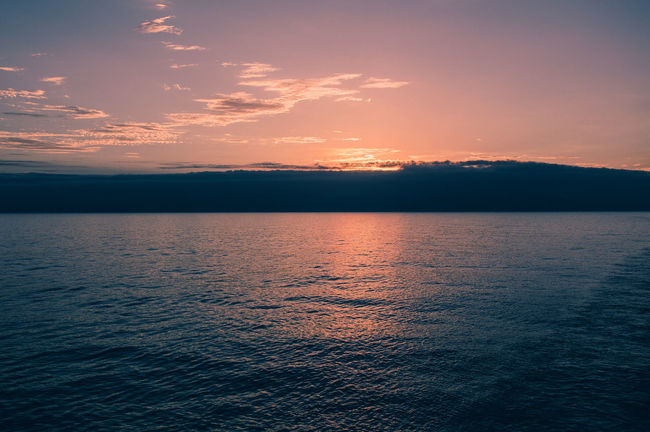 Beauty In Nature Calm Cruise Cruise Ship Lifestyles Nature No People Ocean Remote Rippled Sky Sunny Sunset Tranquil Scene Tranquility Travel Traveling VSCO Water