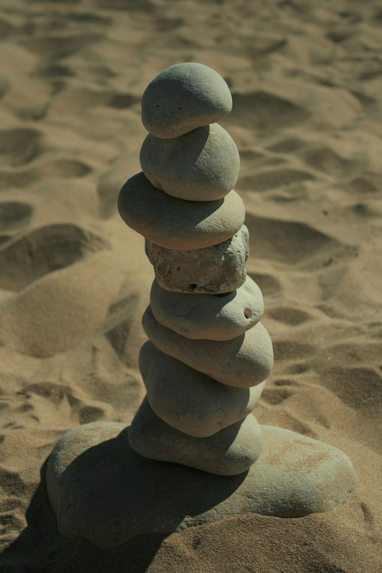 Beach Day Galet Ile De Re - France Outdoors Rock - Object Sand Stack