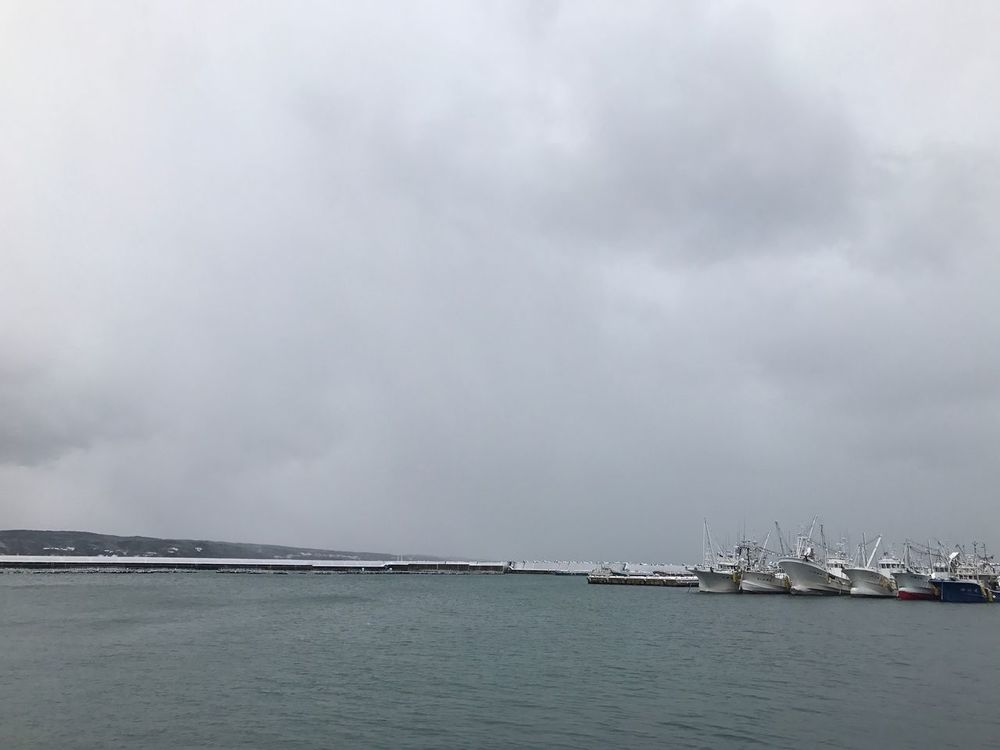 fishing harbour. Sky Sea Water Cloud - Sky Nature Outdoors Scenics Tranquility Waterfront Nautical Vessel No People Beauty In Nature Tranquil Scene Day Horizon Over Water Sailing EyeEm Nature Photography Port Kanazawa Noto