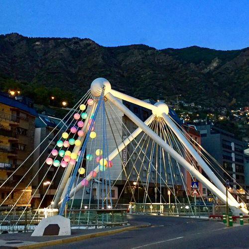 Stretphotography Illuminated Bridge View