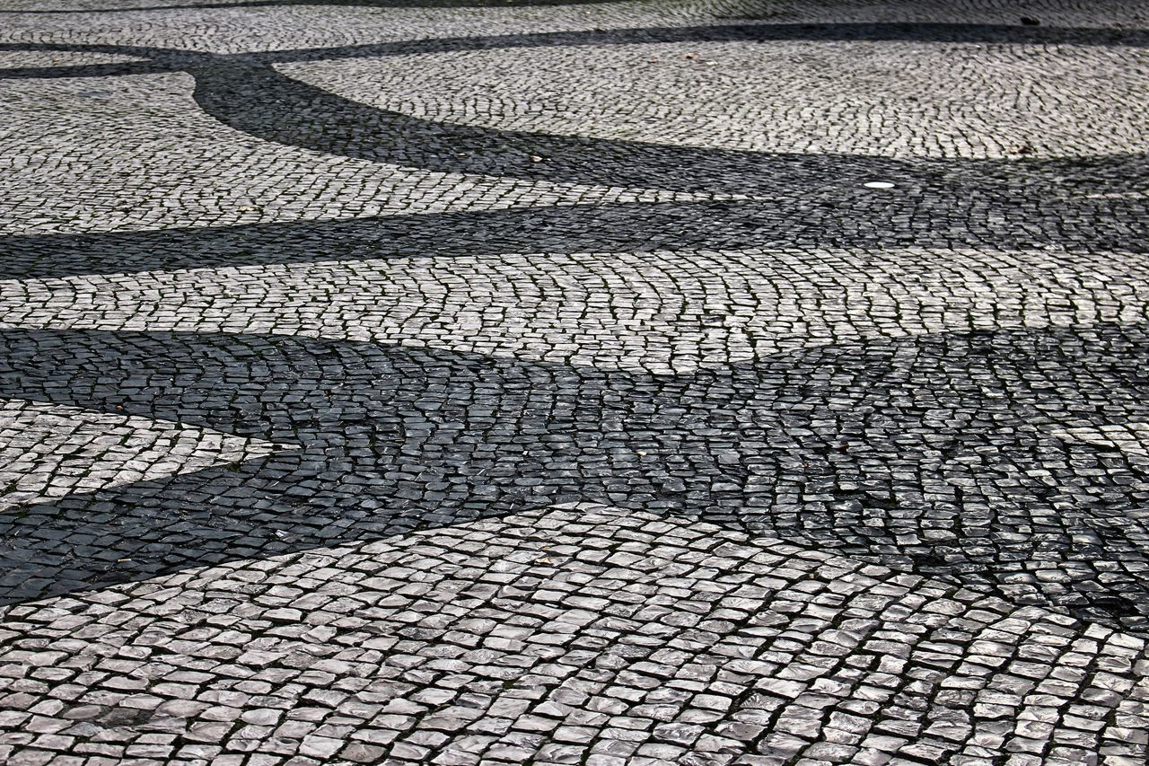 pattern, full frame, cobblestone, backgrounds, textured, no people, outdoors, day