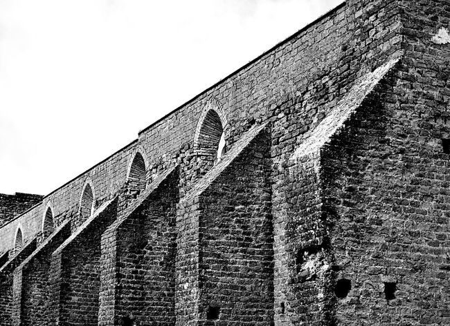Abbey Abbey Ruins Architectural Feature Architecture Black And White Brick Wall Building Exterior Built Structure Church Church Ruins Historic History Monochrome Monochrome Photography No People Outdoors Rome Rome Italy Wall Wall - Building Feature
