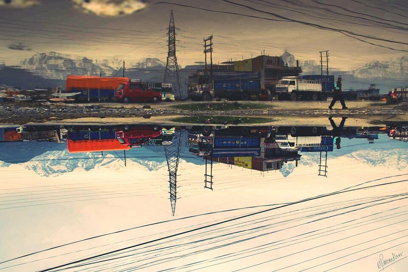 Water Reflection Tilt Photography Beautiful Nepal