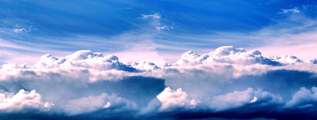 cloud - sky, sky, nature, beauty in nature, blue, atmospheric mood, tranquility, scenics, cloudscape, sky only, backgrounds, heaven, majestic, no people, softness, outdoors, tranquil scene, day, low angle view, full frame